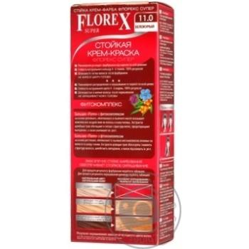 Крем-краска Florex для волос белокурый цвет - купить, цены на Ашан - фото 2