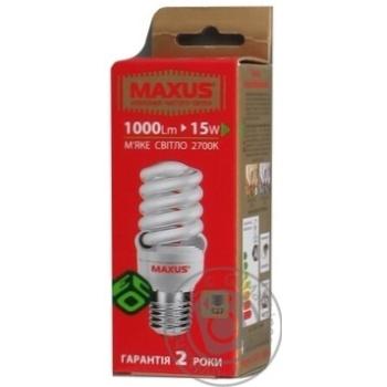 Лампа енергозберігаюча Maxus T2 NFS 15w 2700K E27,1-ESL-199-1