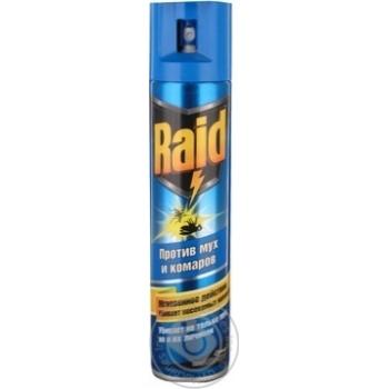 Аэрозоль Raid от мух пчел и комаров 300мл - купить, цены на Novus - фото 6