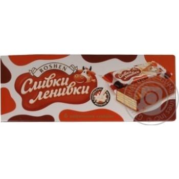 Конфеты Roshen Сливки-ленивки вафельные глазированные шоколадной глазурью 6шт 186г Украина
