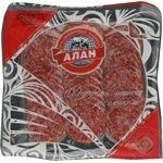 Sausage Alan beef raw smoked 130g vacuum packing Ukraine