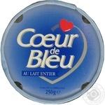 Сыр голубой Кор де Блю Голубое сердце 55% 250г