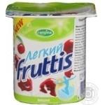 Продукт йогуртный Кампина Фруттис Лёгкий вишня пастеризованный 0.1% 110г пластиковый стакан Россия