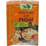 Spices Eko Zoloti recepty for fish 30g Ukraine