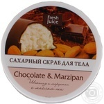 Скраб д/тела Fresh Juice Chocolate&Мarzipan сахарн 225мл