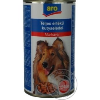 Aro Canned With Beef Food For Dogs - buy, prices for Metro - image 4