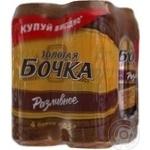 Beer Zolota bochka Razlivnoe light 5.2% 500ml can