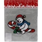 Наклейка новорічна Сніговик ПіонеR 20*19см в кульку 90674-PN