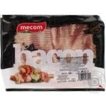 Bacon Mecom pork raw smoked 500g
