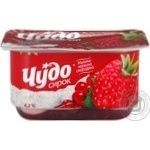 Cottage cheese Chudo raspberries-red currant 4.2% 115g Ukraine