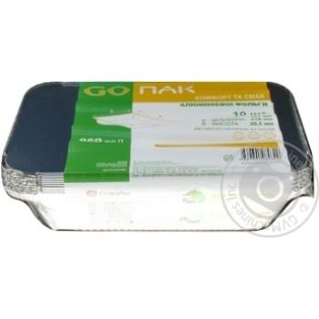 Контейнеры Go Пак из пищевой алюминиевой фольги с крышкой 960мл 10шт - купить, цены на Метро - фото 2