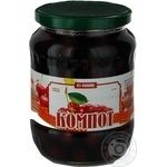 Compote Family cherry 1000g glass jar