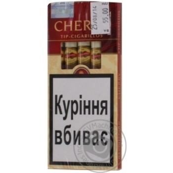 Сигары Cherry Tip Cigarilos - купити, ціни на Фуршет - фото 1