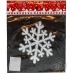 Наклейка новорічна Сніжинка ПіонеR 20*19см в кульку 91015-PN