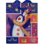 Пакет паперовий середній різдвяний XGBM11B 18см*22см Happycom