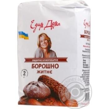 Мука Едим дома ржаная обдирная 2кг - купить, цены на Метро - фото 1