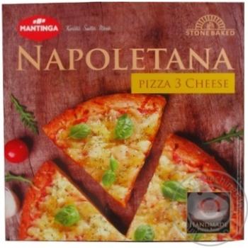 Пицца Mantinga Napoletana Три сыра быстрозамороженная 305г - купить, цены на Novus - фото 3