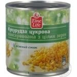 Vegetables corn Fine life canned 340g can