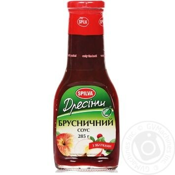 Sauce Spilva cranberries with apple 285g glass jar - buy, prices for Novus - image 2