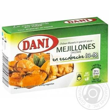 Мидии Dani в испанском соусе 13-18шт 106г - купить, цены на Novus - фото 1