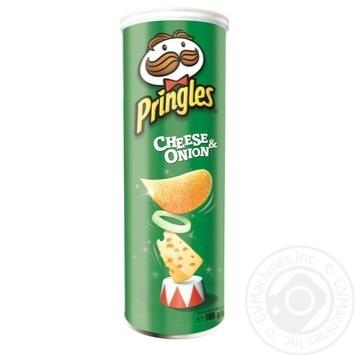 Чіпси Pringles Сир та цибуля 165г - купити, ціни на Фуршет - фото 1