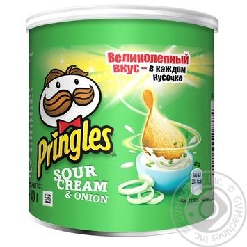 Чіпси Pringles Сметана та цибуля 40г - купити, ціни на Novus - фото 1