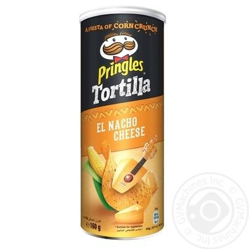 Pringles Tortilla with taste of cheese corn chips 160g