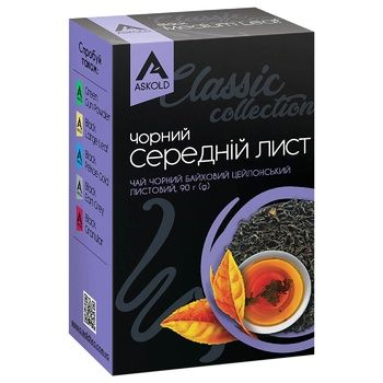 Askold Medium Leaf Black Tea 100g - buy, prices for Auchan - photo 2