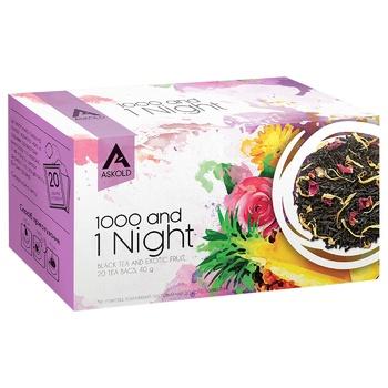Чай Аскольд 1000 и 1 ночь черный 20шт х 2г - купить, цены на Ашан - фото 1