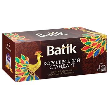 Чай черный Batik Королевский Стандарт 2г х 25шт - купить, цены на СитиМаркет - фото 1