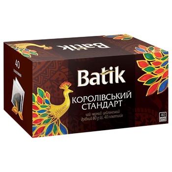 Чай чорний Batik Royal Standard 40шт 2г - купити, ціни на Ашан - фото 1