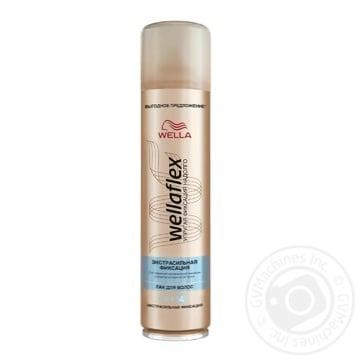 Лак Wellaflex Экстра сильная фиксация для волос 400мл - купить, цены на Ашан - фото 1