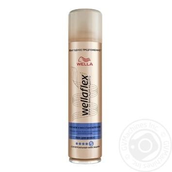 Лак для волос WELLAFLEX Объем и Восстановление Суперсильной фиксации 400мл