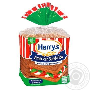 Хлеб Harry's American Sandwich ржано-пшеничный для сэндвичей нарезанный 470г - купить, цены на Восторг - фото 1