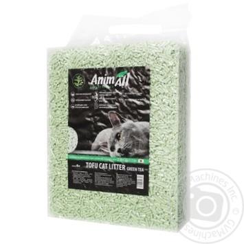 Наполнитель гигиенический AnimAll тофу зеленый чай для котов 6л