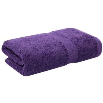 Полотенце махровое Saffran бордюр 70х140см темно-фиолетовый - купить, цены на МегаМаркет - фото 2