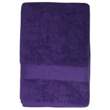Полотенце махровое Saffran бордюр 70х140см темно-фиолетовый - купить, цены на МегаМаркет - фото 1
