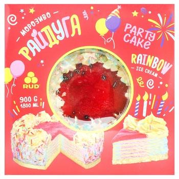 Rud Rainbow Ice Cream Cake 900g - buy, prices for CityMarket - photo 1