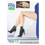 Chista VygoDA! 20den Elastic Matte Beige Socks with Comfort Elastic