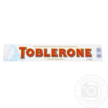 Шоколад Toblerone білий 100г - купити, ціни на МегаМаркет - фото 1