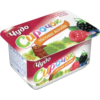 Chudo Whipped Cottage Cheese Wild Berries 5% 100g - buy, prices for CityMarket - photo 1