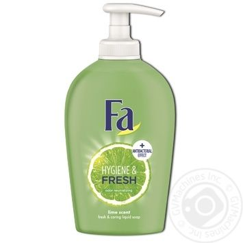 Мыло жидкое Fa Hygiene & Fresh Аромат Лайма с антибактериальным эффектом 250мл