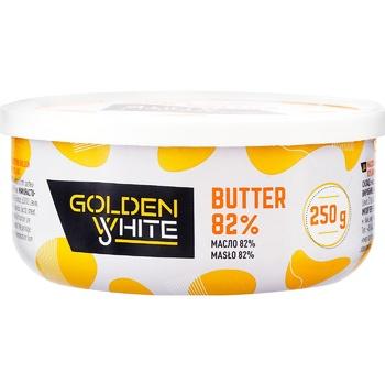 Масло Golden White сливочное несоленое 82% 250г