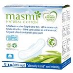 Гигиенические Прокладки Masmi Ultra Night для сильных выделений с крылышками 10шт