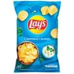 Чіпси картопляні Lay's зі смаком сметани і зелені 25г