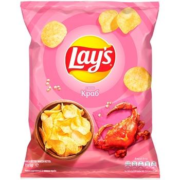 Чіпси Lay's картопляні зі смаком краба 71г