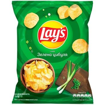 Чипсы картофельные Lay's со вкусом зеленого лука 71г