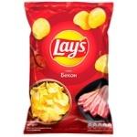 Чіпси картопляні Lay's зі смаком бекону 133г