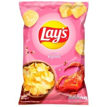 Чипсы Lay's картофельные со вкусом краба 133г