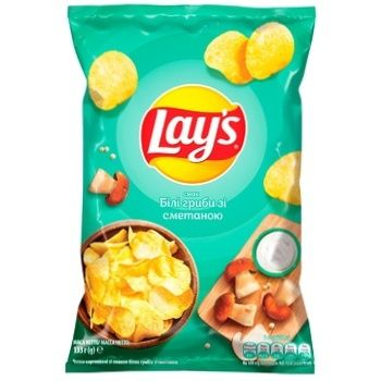 Lay's White Mushrooms with Sour Cream Flavored Potato Chips 133g